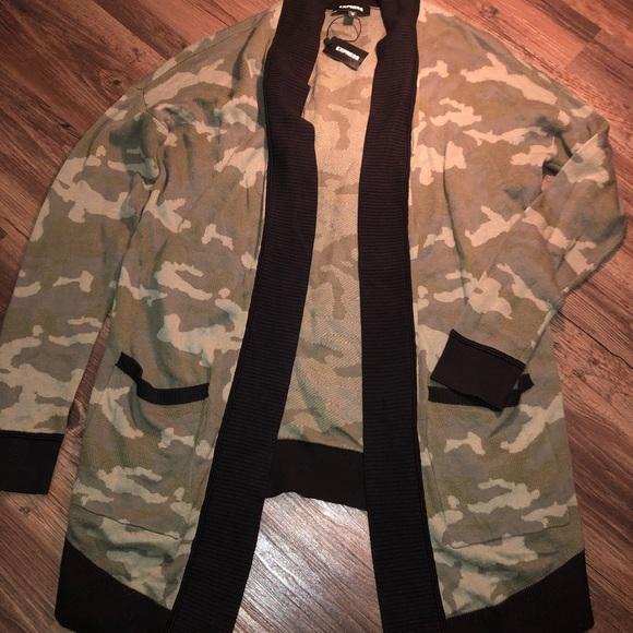 Express Sweaters - Soft army cardigan